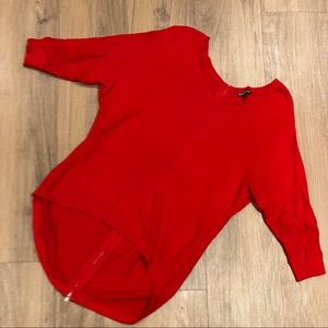 Express Red knit sweater
